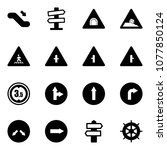 solid vector icon set  ... | Shutterstock .eps vector #1077850124