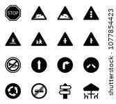 solid vector icon set   stop...   Shutterstock .eps vector #1077854423