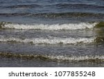 the sea waves | Shutterstock . vector #1077855248