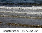 the sea waves | Shutterstock . vector #1077855254