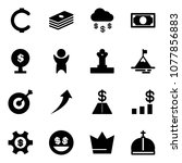 solid vector icon set   cent... | Shutterstock .eps vector #1077856883