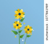 background with flowers | Shutterstock .eps vector #1077861989