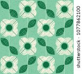 seamless pattern with flowers... | Shutterstock .eps vector #1077862100