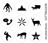 set of 9 simple editable icons...   Shutterstock .eps vector #1077862658