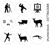 set of 9 simple editable icons... | Shutterstock .eps vector #1077862688