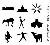 set of 9 simple editable icons...   Shutterstock .eps vector #1077864170