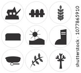 set of 9 simple editable icons... | Shutterstock .eps vector #1077865910