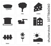 set of 9 simple editable icons... | Shutterstock .eps vector #1077866060