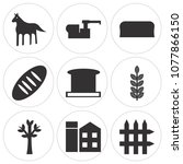 set of 9 simple editable icons... | Shutterstock .eps vector #1077866150