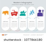 infographics design vector and... | Shutterstock .eps vector #1077866180