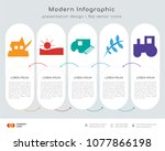 infographics design vector and  ... | Shutterstock .eps vector #1077866198