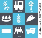 set of 9 simple editable icons... | Shutterstock .eps vector #1077866420
