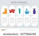 infographics design vector and... | Shutterstock .eps vector #1077866438