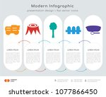 infographics design vector and  ... | Shutterstock .eps vector #1077866450