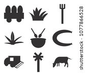 set of 9 simple editable icons... | Shutterstock .eps vector #1077866528