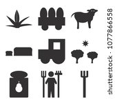 set of 9 simple editable icons... | Shutterstock .eps vector #1077866558
