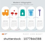 infographics design vector and... | Shutterstock .eps vector #1077866588