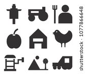 set of 9 simple editable icons... | Shutterstock .eps vector #1077866648