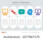 infographics design vector and  ... | Shutterstock .eps vector #1077867170