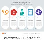 infographics design vector and... | Shutterstock .eps vector #1077867194