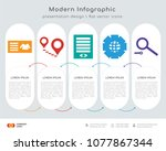 infographics design vector and... | Shutterstock .eps vector #1077867344