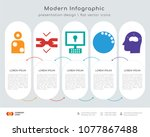infographics design vector and... | Shutterstock .eps vector #1077867488
