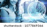 composite image of digital...   Shutterstock . vector #1077869366