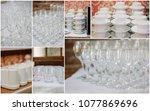 wedding crockery rentals for... | Shutterstock . vector #1077869696