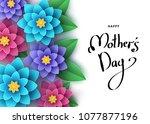 happy mother's day banner... | Shutterstock .eps vector #1077877196
