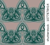 seamless hand drawn pattern... | Shutterstock .eps vector #1077878414