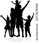 vector silhouette of family. | Shutterstock .eps vector #1077878960