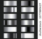 set of silver foil texture... | Shutterstock .eps vector #1077880619