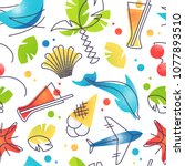 bright color summer and...   Shutterstock .eps vector #1077893510
