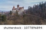 the medieval castle of bran... | Shutterstock . vector #1077896894