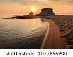 beautiful kakoudia beach at... | Shutterstock . vector #1077896900