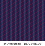 isometric grid. vector seamless ... | Shutterstock .eps vector #1077898109