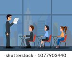 speaking to the audience.a... | Shutterstock .eps vector #1077903440
