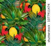 watercolor seamless pattern... | Shutterstock . vector #1077911474