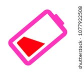 vector battery low charging  ... | Shutterstock .eps vector #1077922508