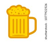 glass of beer illustration ... | Shutterstock .eps vector #1077922526