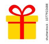 vector gift box illustration... | Shutterstock .eps vector #1077922688