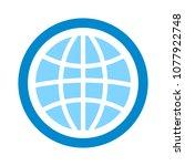 globe icon  earth planet  ... | Shutterstock .eps vector #1077922748