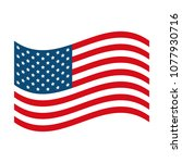 united states of america flag... | Shutterstock .eps vector #1077930716