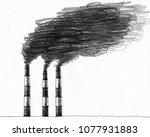 Hand Drawn Sketch Of Smokestac...