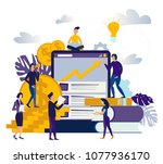 vector illustration of virtual... | Shutterstock .eps vector #1077936170