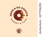 grab and go donuts logo. bakery ... | Shutterstock .eps vector #1077936200