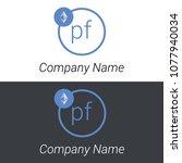 ethereum pf letters business... | Shutterstock .eps vector #1077940034