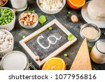 healthy food concept. set of... | Shutterstock . vector #1077956816