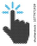 halftone dot click icon....