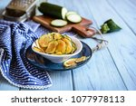 bowl of a homemade roasted... | Shutterstock . vector #1077978113